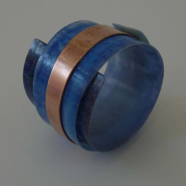 Copy of Bangle adjustable recylced plastic and copper