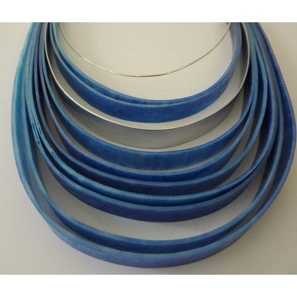Layer necklace recylced plastic and aluminium