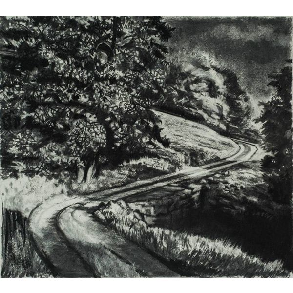 Road From Rake Farm No. 2. Drawing