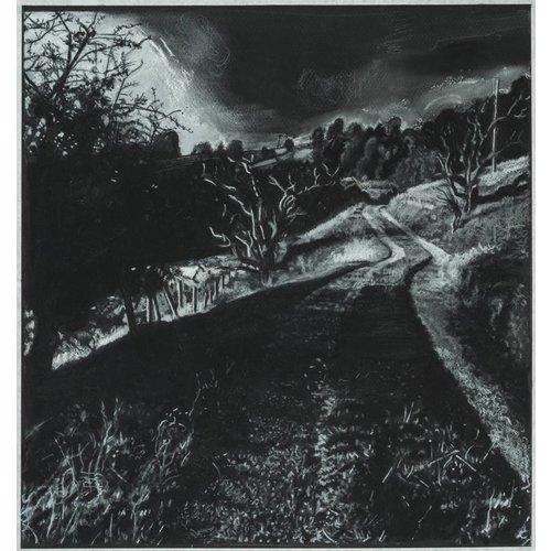 Mike Holcroft Road to Rake Farm  No. 4 Drawing 45 x 42 cm