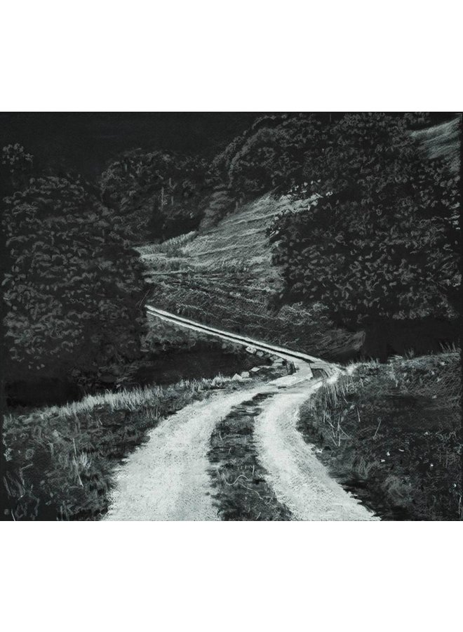 White Road to Rake Farm Charcoal Study