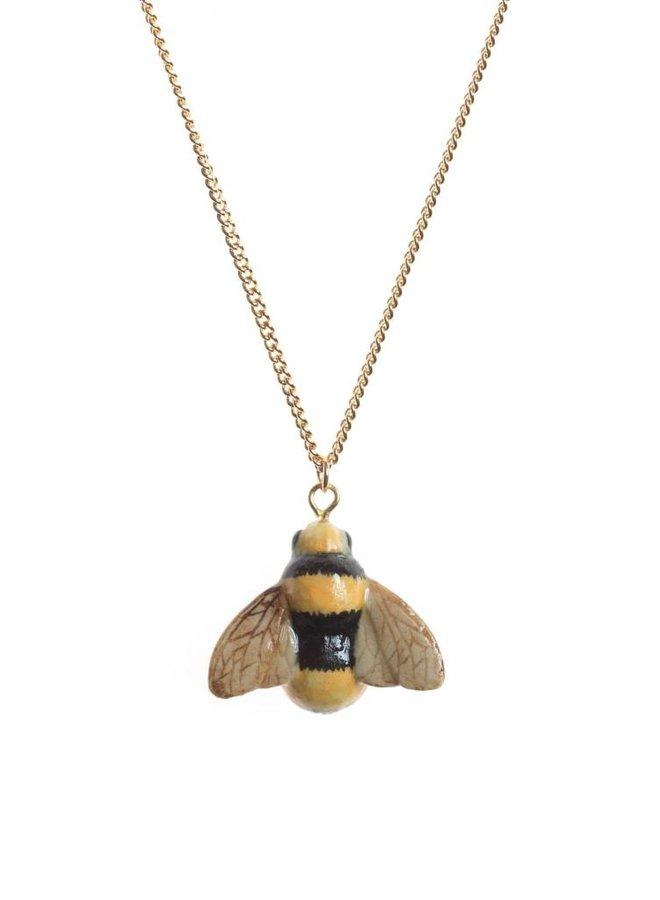 Bienenhalskette handbemaltes Porzellan