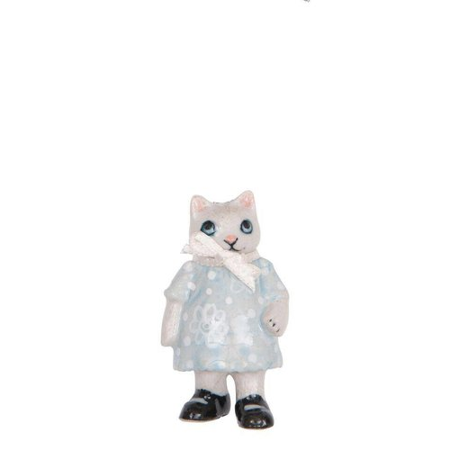And Mary Kitten Girl charm hand painted porcelain