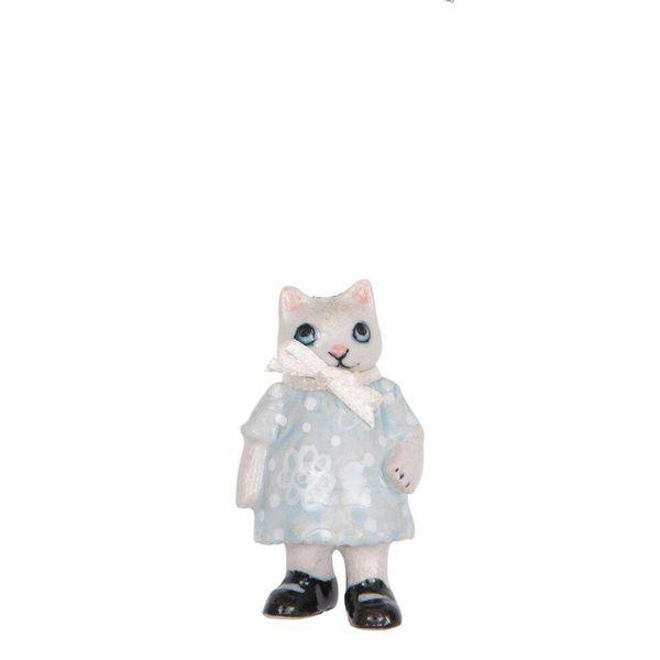 Kitten Girl charm hand painted porcelain
