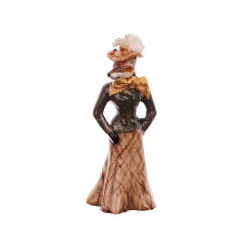 And Mary Foxy Lady charm porcelana pintada a mano