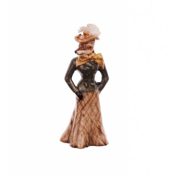 Foxy Lady charm porcelana pintada a mano
