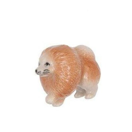 And Mary Pomeranian Dog charm porcelana pintada a mano