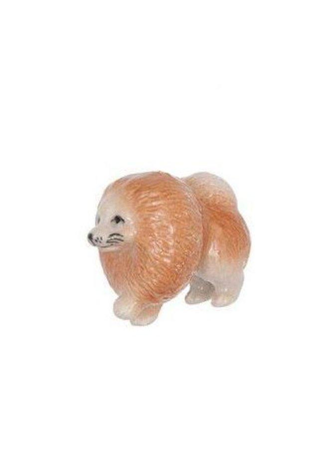 Pomeranian Dog Charme handbemaltes Porzellan