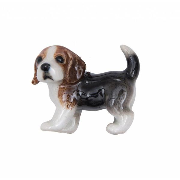 Beagle Puppy Charm handbemaltes Porzellan
