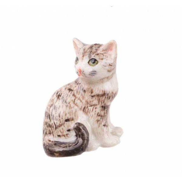Tabby Katze handbemaltes Porzellan