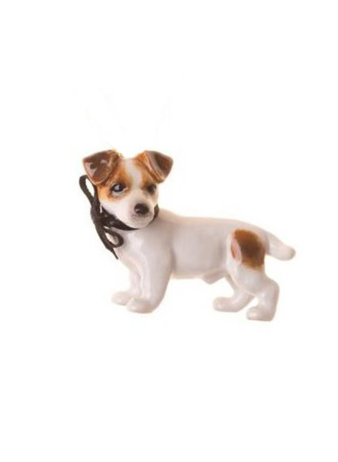 Jack Russel Hund Charm handbemaltes Porzellan
