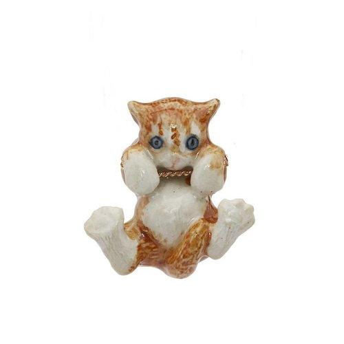 And Mary Ginger gatito colgante de porcelana pintada a mano