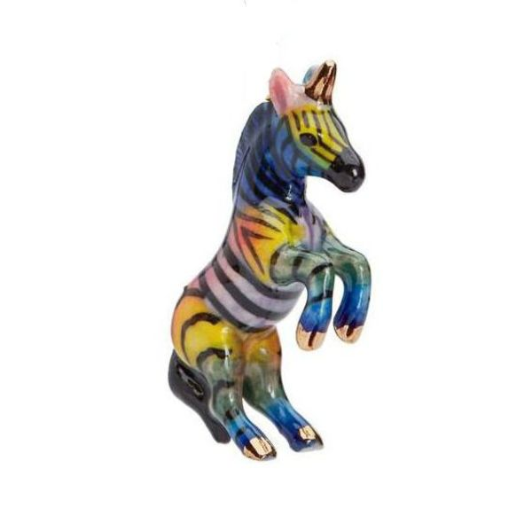Rainbow Unicorn porcelana pintada a mano