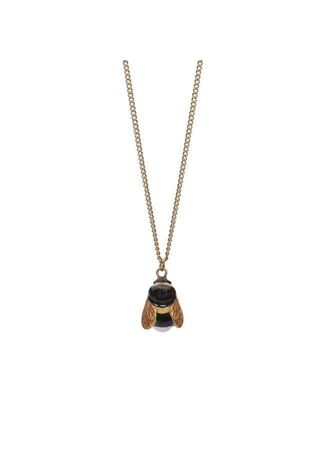 Copy of Tiny Bee charm necklace, gold plated chain