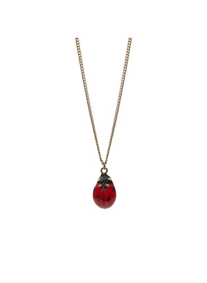 Lady Bird Charm Halskette, goldene Plattenkette