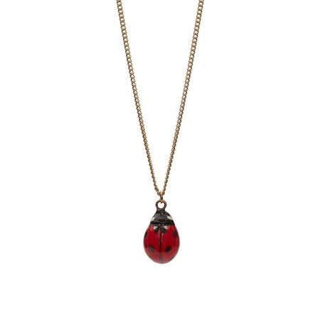 And Mary Lady Bird bedel ketting, verzilverde ketting