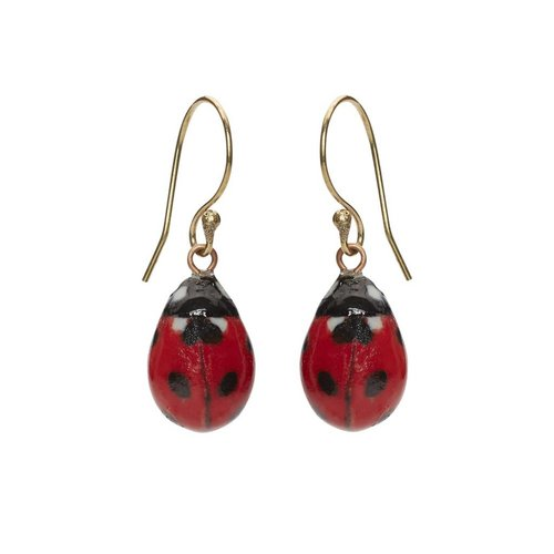 And Mary Lady Bird earrings silver plated hooks