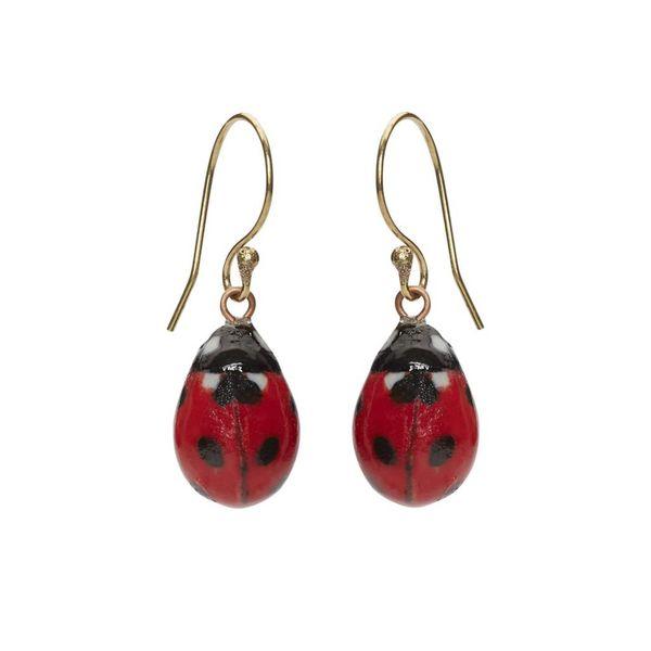 Lady Bird earrings silver plated hooks