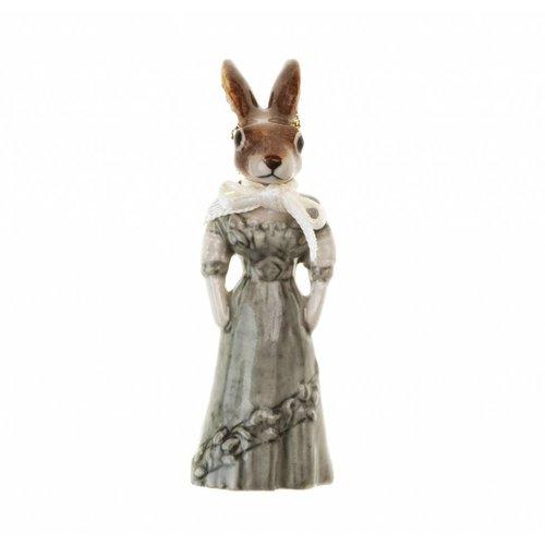 And Mary Mrs Rabbit Charm handbemaltes Porzellan