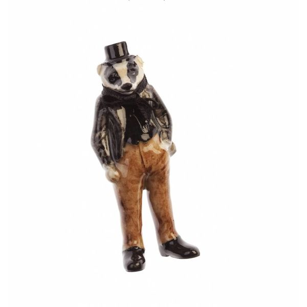 Mr. Badger charm porcelana pintada a mano