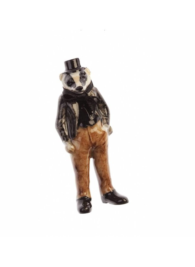 Herr Badger Charme handbemaltes Porzellan
