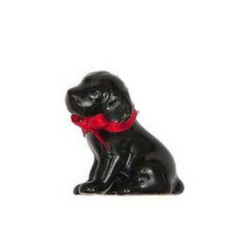 And Mary Black Labrador Puppy charm hand painted porcelain