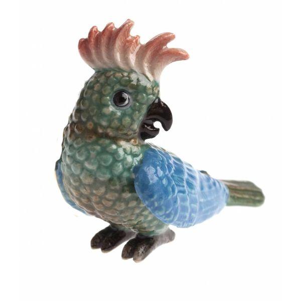 Papagei Halskette handbemalt