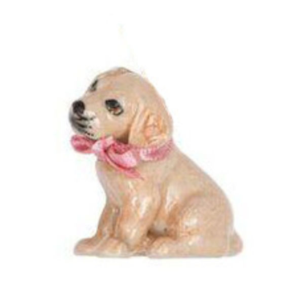 Golden Labrador Puppy charm hand painted porcelain