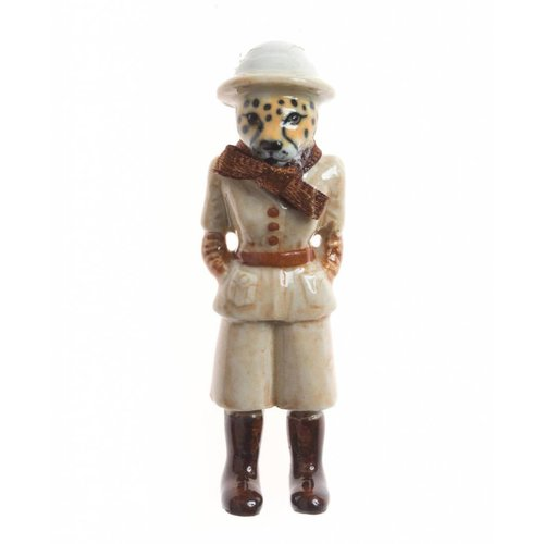 And Mary Safari guepardo dama porcelana pintada a mano