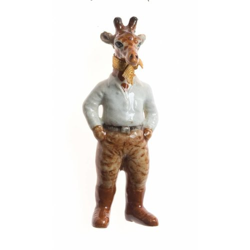 And Mary Safari Giraffe man  hand painted porcelain