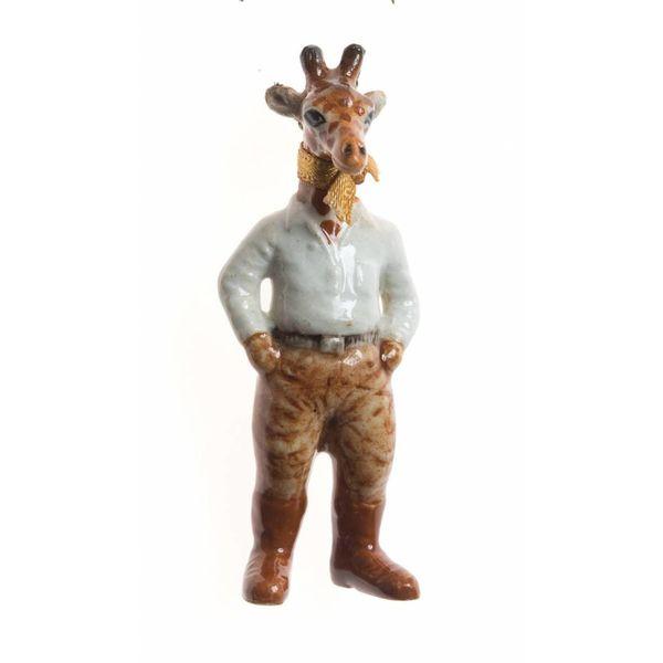Safari Giraffe Mann handbemaltes Porzellan