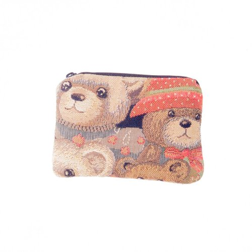 Belly Moden Teddy Bear Tapestry Small Purse 12x 8 cm