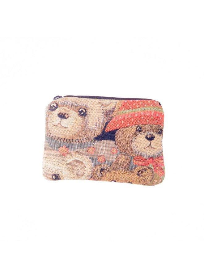 Teddy Bear Tapestry Small Purse 12x 8 cm