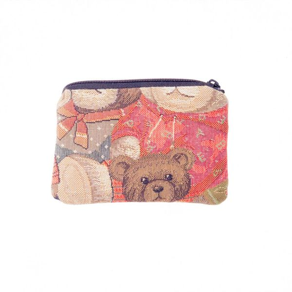 Teddy Bear Tapestry Small Purse