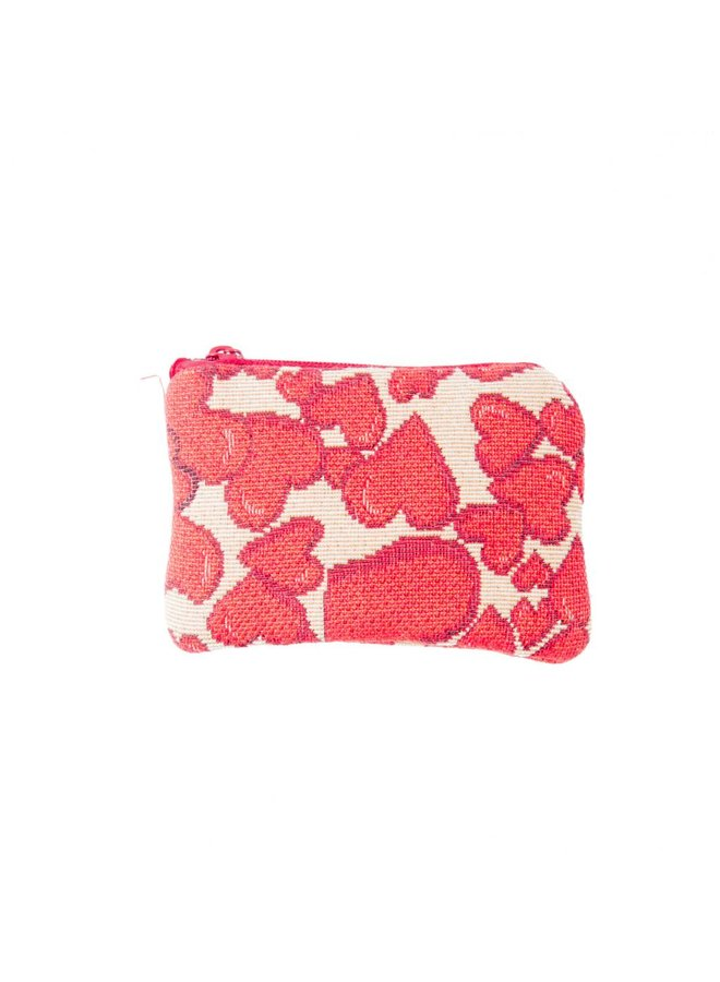 Hearts Tapestry Small Purse 12x 8 cm
