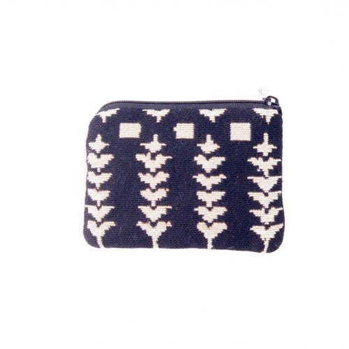 Belly Moden Folk Black Tapestry Small Purse 12x 8 cm