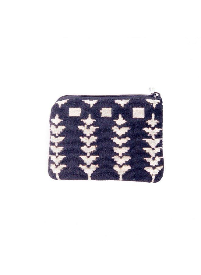 Folk Black Tapestry Small Purse 12x 8 cm