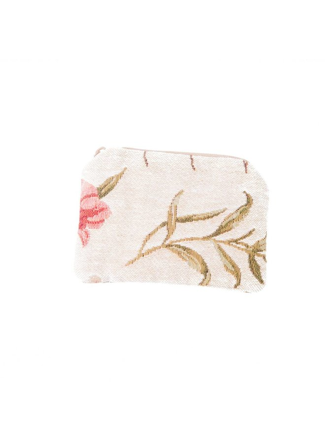 Flower Tapestry Small Purse 12x 8 cm