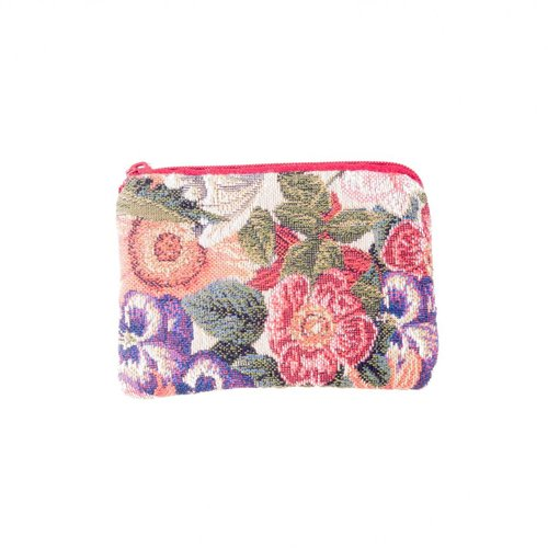 Belly Moden Multi Floral Tapestry Small Purse 12x 8 cm