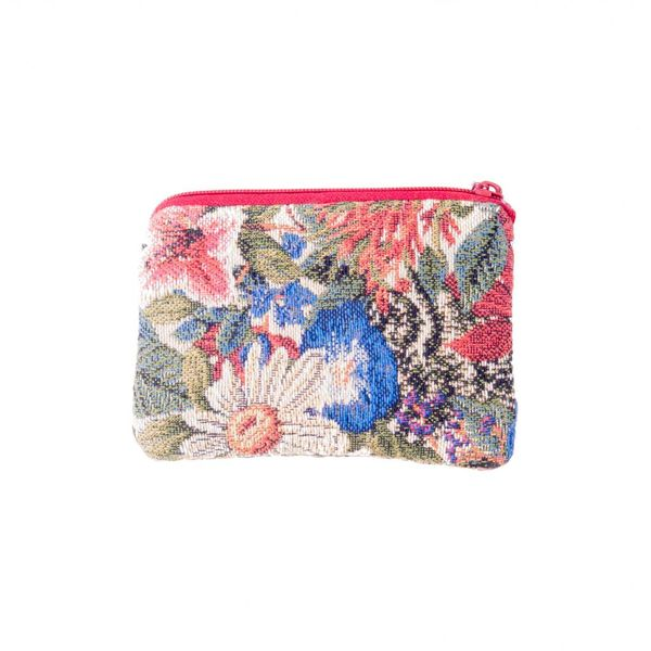 Multi Floral Tapestry Small Purse 12x 8 cm