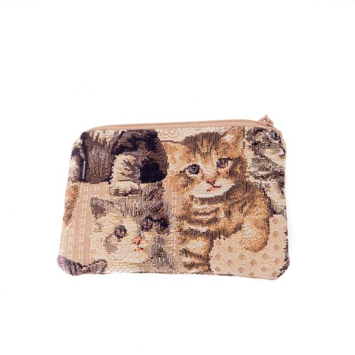 Belly Moden Kitten Tapestry Small Purse 12x 8 cm