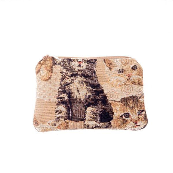 Kitten Tapestry Small Purse 12x 8 cm