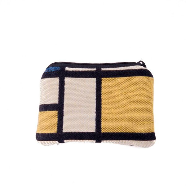 Mondrian Tapestry Small Purse 12x 8 cm