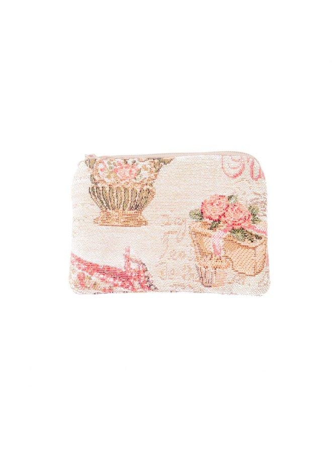 Slipper Tapestry Small Purse 12x 8 cm