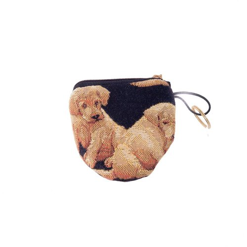 Belly Moden Dog Tapestry Keyring Purse 8 x 8 cm