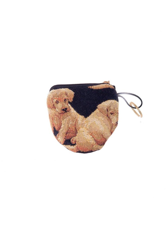 Dog Tapestry Keyring Purse 8 x 8 cm