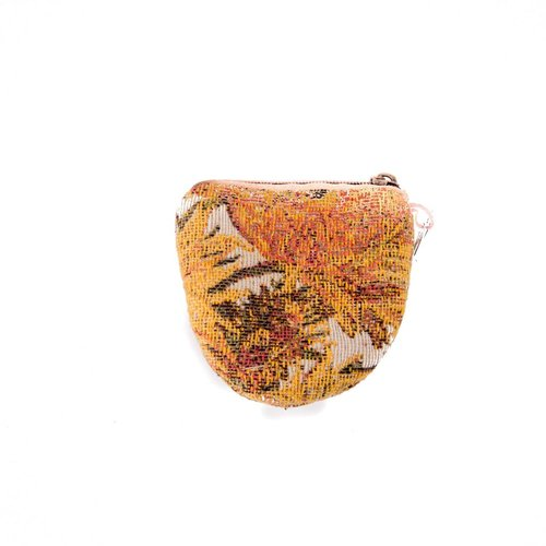 Belly Moden Sunflower Tapestry Keyring Purse 8 x 8 cm