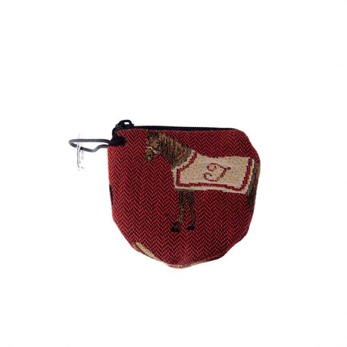 Belly Moden Race Horse Tapestry Keyring Purse 8 x 8 cm