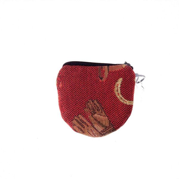 Race Horse Tapestry Keyring Purse 8 x 8 cm