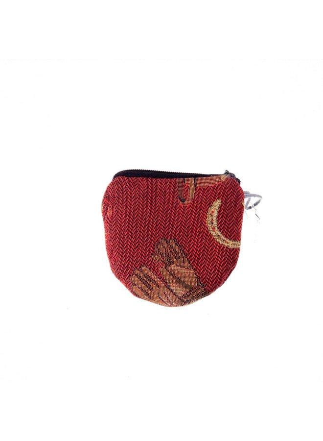 Race Horse Tapestry Keyring Purse 8 x 8 cm